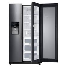 samsung 24 7 cu ft side by side refrigerator in black stainless