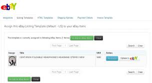 You Can Search For Products And Assign The Template EBay Active Items Also Update Changes To By Clicking