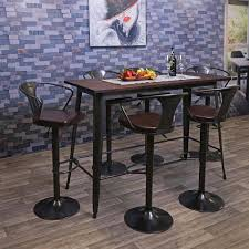 bartisch hwc h10 hochtisch tresentisch industrie design ulme holz fsc zertifiziert 106x147x60cm vintage schwarz braun