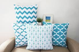 Decorative Couch Pillows Amazon by Amazon Com Howarmer Canvas Cotton Aqua Blue Decorative Throw