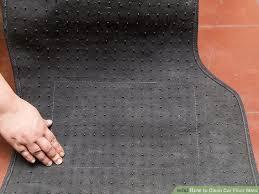 Car Floor Mats by 3 Ways To Clean Car Floor Mats Wikihow