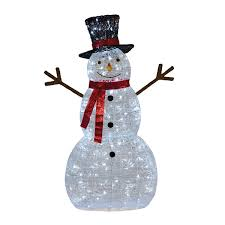 Meijer Home Wall Decor by December Home Outdoor Led Snowman Meijer Com