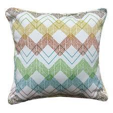 Garden Treasures Patio Furniture Cushions by Shop Garden Treasures Outdoor Indoor Chevron Square Throw Pillow