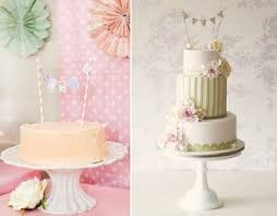 Bunting Cake Toppers From Karas Party Ideas Left And Rachelles Cakes UK Right