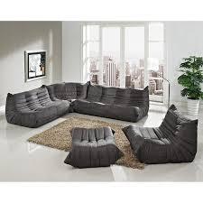 Modway Waverunner Sofa Set by Beautiful Grey Microfiber Sectional Sofa Sofas Ideas