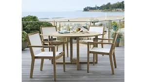Crate And Barrel Dining Room Chairs by Regatta Round Drop Leaf Table Crate And Barrel