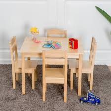 Shop Gymax Children Play Table Chair 5PCS Set Pine Wood Kids Table ... Set And Target Folding Toddler Childs Child Table Chair Chairs Play Childrens Wooden Sophisticated Plastic For Toddlers Tyres2c Simple Kids And Her Tool Belt Hot Sale High Quality Comfortable Solid Wood Sets 1table Labe Activity Orange Owl For Dressing Makeup White Mirrors Vanity Stools Kids Chair Table Sets Marceladickcom