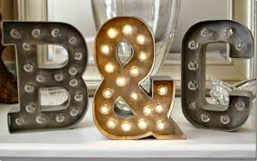 The Answer Is Chocolate Faux Metal Marquee Letters