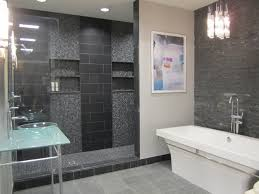 useful gray slate bathroom tile for your small home remodel ideas