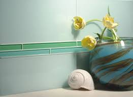 an option of tile border bathroom tile murals