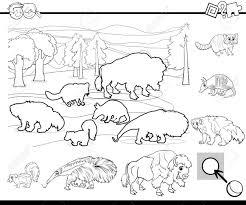 Ilustración De Dibujos Animados En Blanco Y Negro De Encontrar Uno