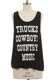 Razorback Tank Black Truck Country Chic Plus Size Cowboys Trucks Rustic Clothing Womens Tops