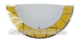 modern half moon yellow glass wall light hf mb1107 yl buy