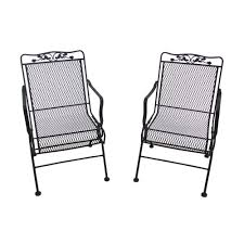 100 Black Wrought Iron Chairs Outdoor Arlington House Glenbrook Patio Action 2Pack7871700