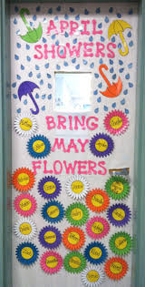 Pictures Of Halloween Door Decorating Contest Ideas by Classroom Door Decorating Idea For April May Pre K Spring