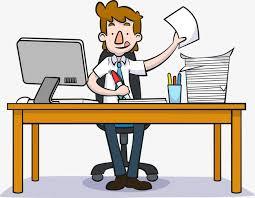 travail en bureau les hommes de travail de travail bureau homme png et vecteur pour