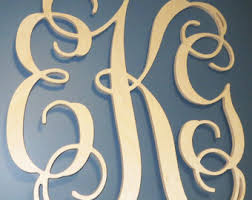 SALE SALE Item inch Wooden Monogram Letters Vine Room