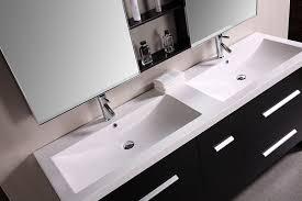 Bathroom Sink Vanities Overstock by Design Element Perfecta Double Integrated White Acrylic Drop In