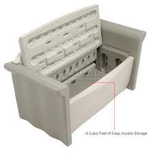 Rubbermaid Patio Storage Bench 3764 by 28 Rubbermaid Patio Storage Bench 3764 Click Clack Sofa Bed