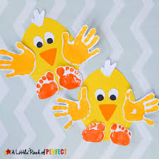 Handprint Chick Easy Spring And Easter Craft For Kids Perfect To Make