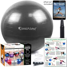 Exercise Ball For Yoga, Balance, Stability From SmarterLife ... Weighted Yoga Ball Chair For Kids Adults Up 5 6 Tall Classic Balance Rizzoo Styling Gaiam Backless Pvc Purple Safco Home Office Meeting Gathering Zenergy Black Vinyl Neweggcom Amazoncom Fdp Rectangle Activity School And Table Ficamesitop Page 71 24 Hour Office Chair Inexpensive Top Best Exercise Balls Reviews Youtube Pibbs 3447 Cosmo Threading Hot Item Half Armrest Leather Fabric Parts Swivel Base