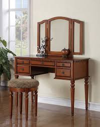 Ebay Dresser With Mirror by Amazon Com Tri Folding Mirror White Wood Vanity Set Make Up Table