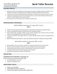 Resume Examples For Banking Bank Teller Sample Download Experience