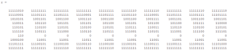 Matlab Cell To Double by How To Convert Binary Matrix To Decimal Matrix In Matlab Stack
