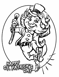 St Patricks Day Printable Coloring Pages Leprechaun Free