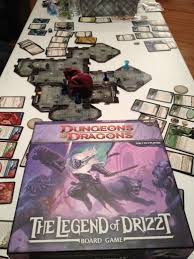 Dungeons And Dragons Legend Of Drizzt Board Game In Play