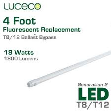 luceco led fluorescent replacement 4 ft 18w ballast bypass
