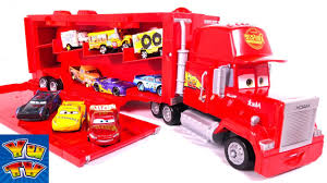 Disney Pixar Cars 3 Toys Movie Big Mack Truck Hauler Car Carry Case ...
