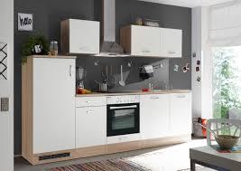 respekta einbau küche küchenzeile küchenblock 280 cm eiche natura weiss
