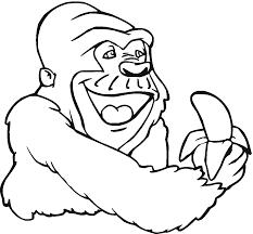 Page De Livre De Coloriage Banane Version De Croquis Et De Couleur