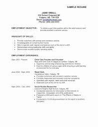 Sample Resume For Summer Job Fresh Of How Write A Example