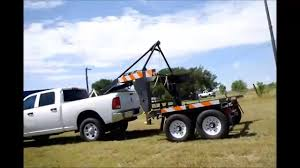 Pickup Truck Container Hauler Unload - YouTube