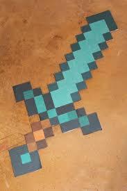Minecraft Sword Pumpkin Carving Patterns by Cardboard Minecraft Diamond Sword By Charmandersflame On Deviantart