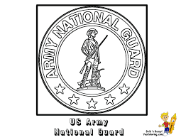 Army National Guard Flag Coloring At YesColoring USA Air Page