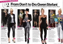 Gwen Article In Octobers Glamour Magazine Everything Time