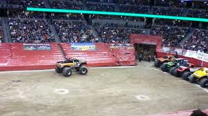 100 Monster Trucks Denver Rammunition Truck Freestyle Jam 2013 YouTube
