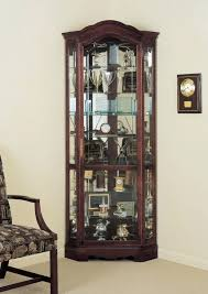fabulous curio cabinet with lights lighted corner curio cabinet