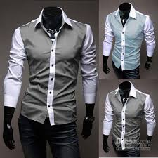 NEW Luxury Dress Handsome Striped Button Mens Shirts Sale MS049