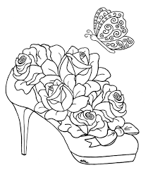 High Heel Filled With Roses Buds Image Find This Pin And More On Coloring Pages For Adults