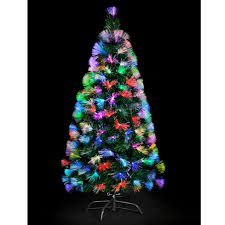 Small Fibre Optic Christmas Trees Uk by Green Fibre Optic Mutli Coloured Lights 180cm 6ft Approx 100