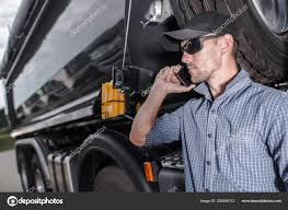 100 Truck Phone Driver Making Business Dealing Potential Clients Heavy
