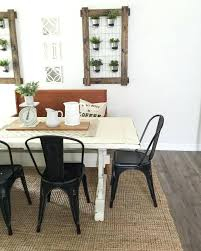 Black Dining Room Table Large Size Of Dinning Sets White Farmhouse Metal Chairs With
