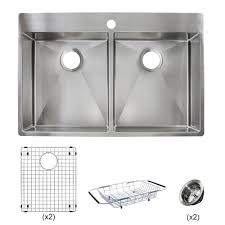 Franke Sink Mounting Clips by Franke Vector All In One Dual Mount Stainless Steel 33 In 1 Hole