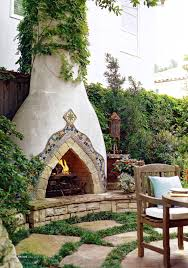 Spanish Style Stucco Fireplace