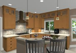 Appealing L Shaped Island With Stove Photo Decoration Inspiration