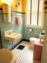 kristen and paul s 1940s style aqua and black tile bathroom built